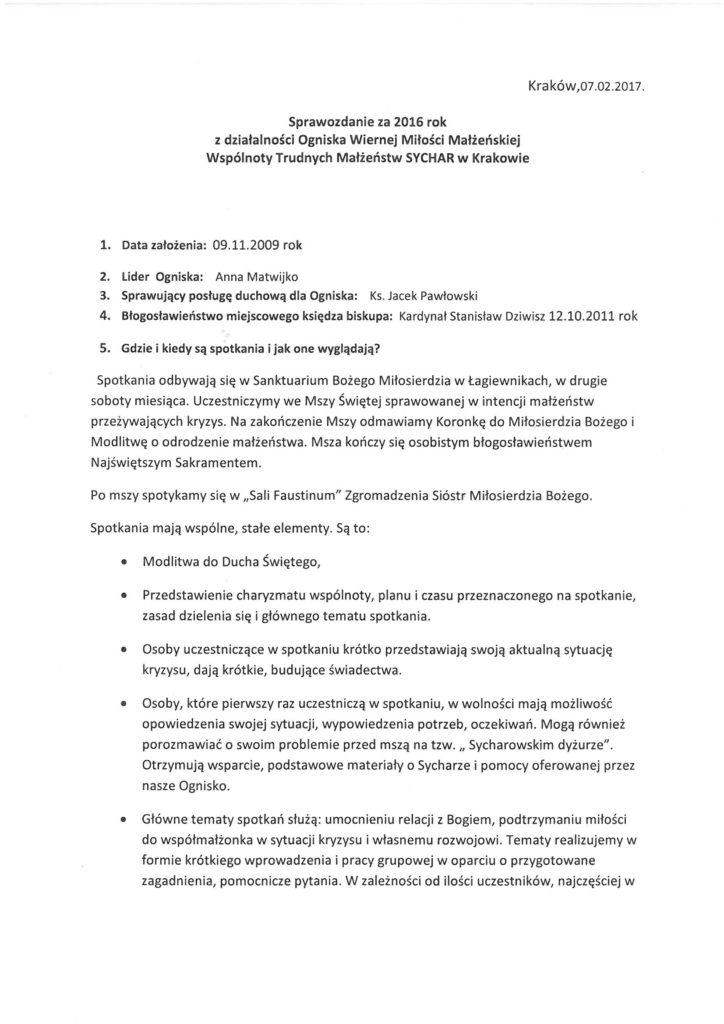 Sprawozdanie Kraków 2016 str.1